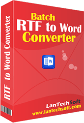 Converts format of files from RTF to DOC