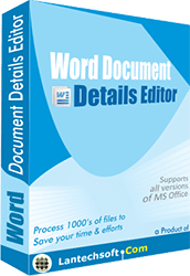 Word File Properties Editor