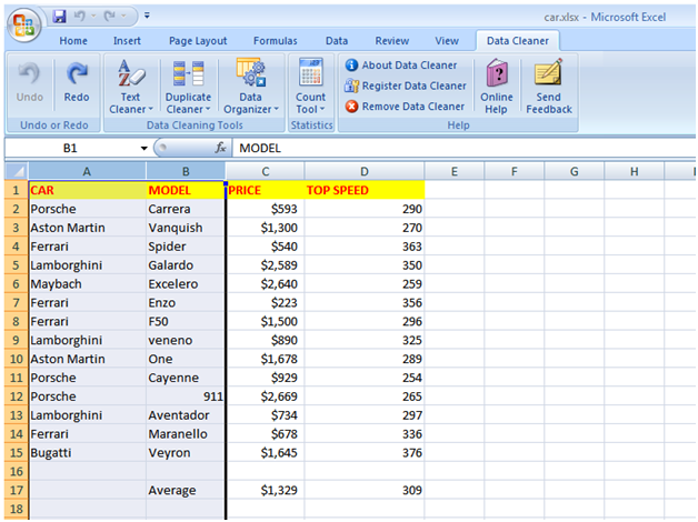 Excel Files Data Cleaning Utility