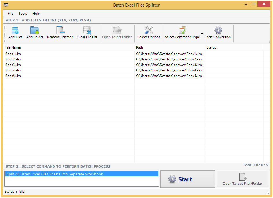 how to open excel file in batch file