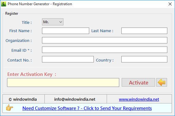 VBA projects and Videos are available to understand the working of phone number Generator