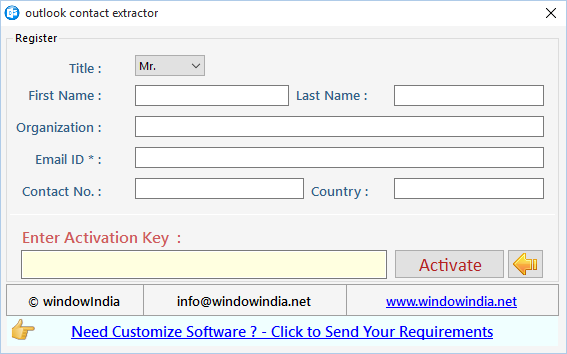 Outlook Contact Extractor