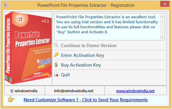 PowerPoint File Properties Extractor