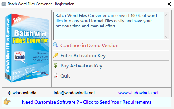Batch Word Files Converter